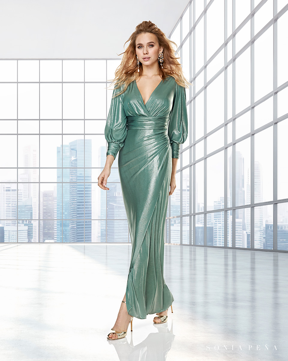 Long dress. Fall-Winter Capsule 2020 Collection 2020. Sonia Peña - Ref. 2200007