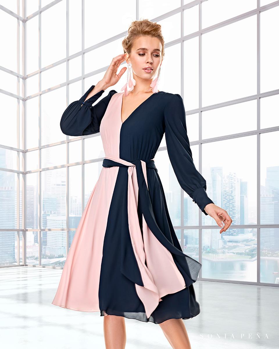 Long dress. Fall-Winter Capsule 2020 Collection 2020. Sonia Peña - Ref. 2200008