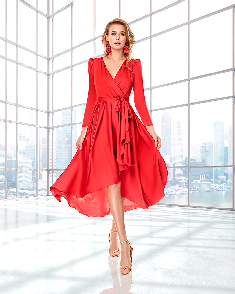 Long dress. Fall-Winter Capsule 2020 Collection 2020. Sonia Peña - Ref. 2200009