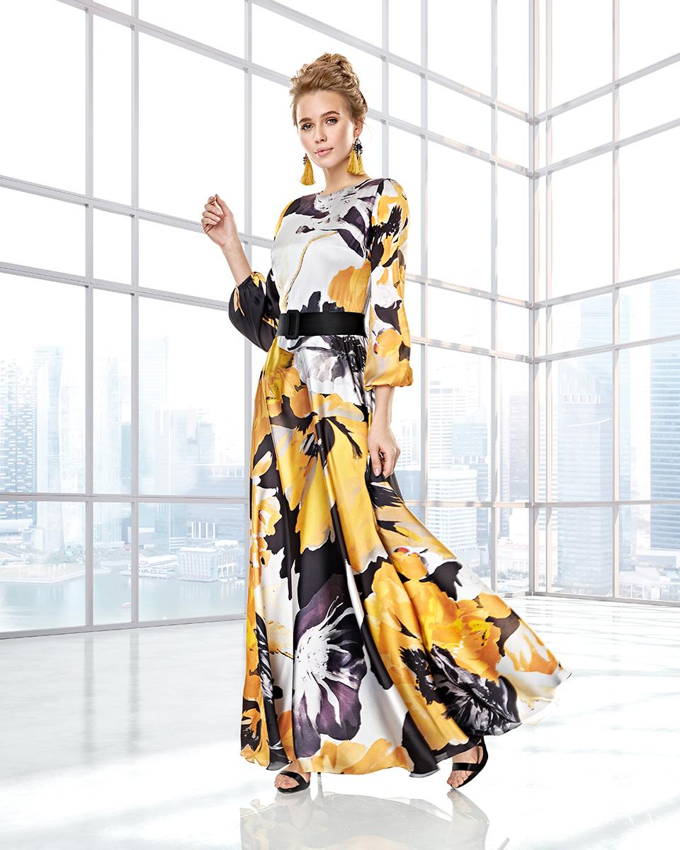 Long dress. Fall-Winter Capsule 2020 Collection 2020. Sonia Peña - Ref. 2200015