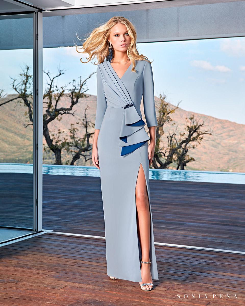 Long dress. Spring-Summer Solar Collection 2021. Sonia Peña - Ref. 1210003