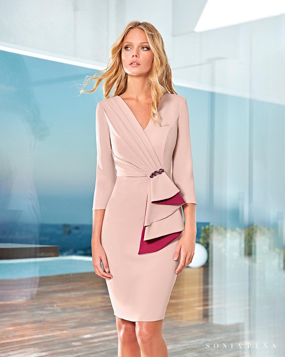 Party Kleider, Mutter der Brautkleiderm Cocktailkleider. Frühling-Sommer-Kollektion 2021. Sonia Peña - Ref. 1210003A
