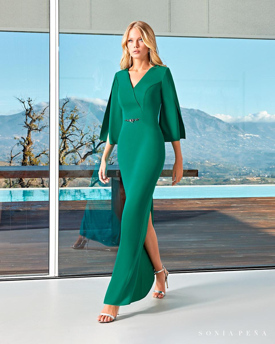 Long dress. Spring-Summer Solar Collection 2021. Sonia Peña - Ref. 1210004