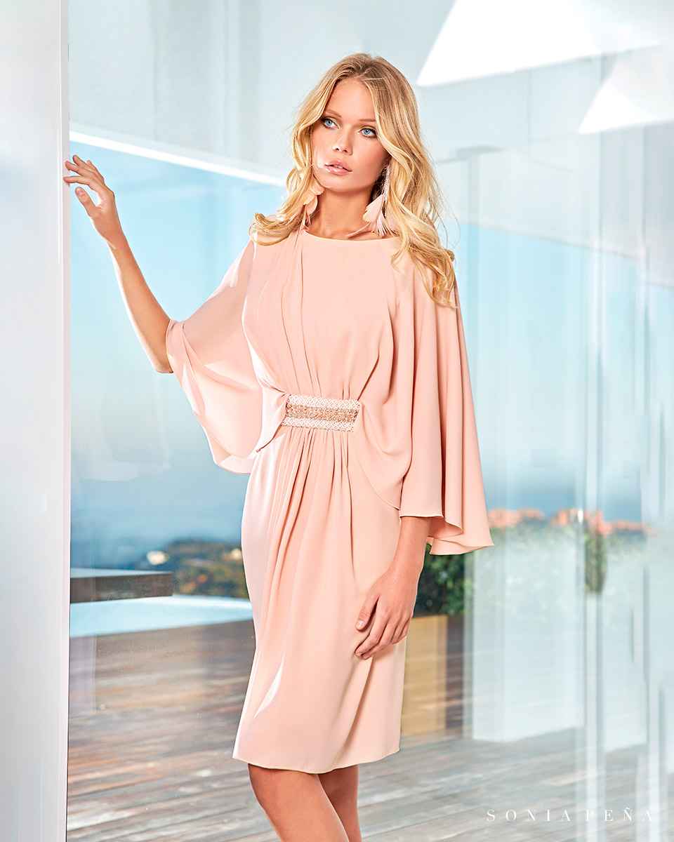 Party dress, Cocktail Dresses, Mother of the bride dresses. Complete Spring-Summer Solar Collection 2021. Sonia Peña - Ref. 1210008A