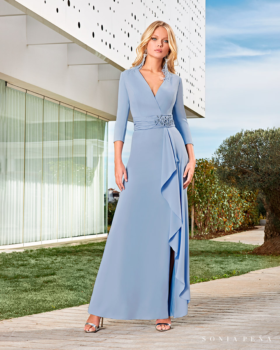 Party dress, Cocktail Dresses, Mother of the bride dresses. Complete Spring-Summer Solar Collection 2021. Sonia Peña - Ref. 1210009