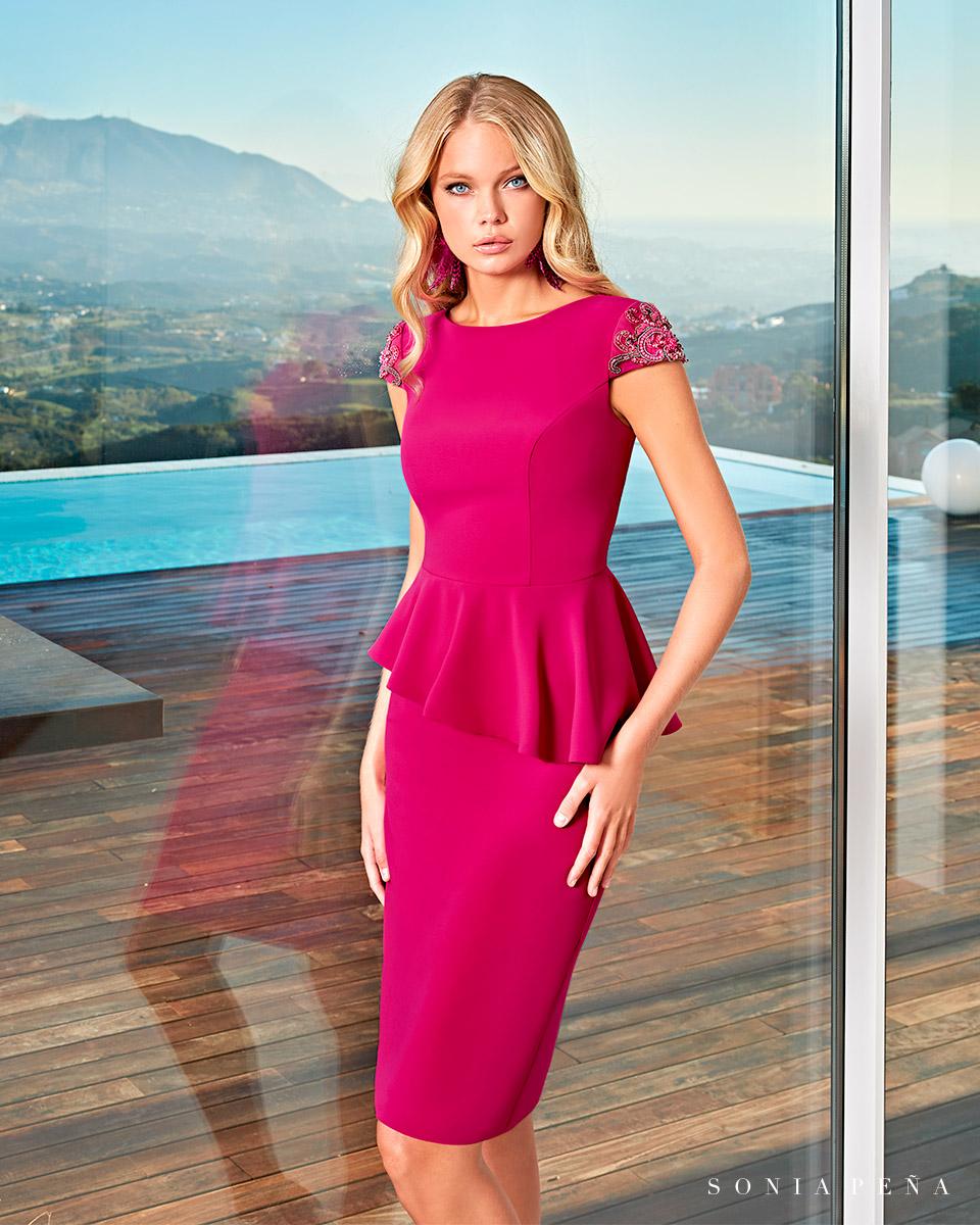 Party Kleider, Mutter der Brautkleiderm Cocktailkleider. Frühling-Sommer-Kollektion 2021. Sonia Peña - Ref. 1210012A