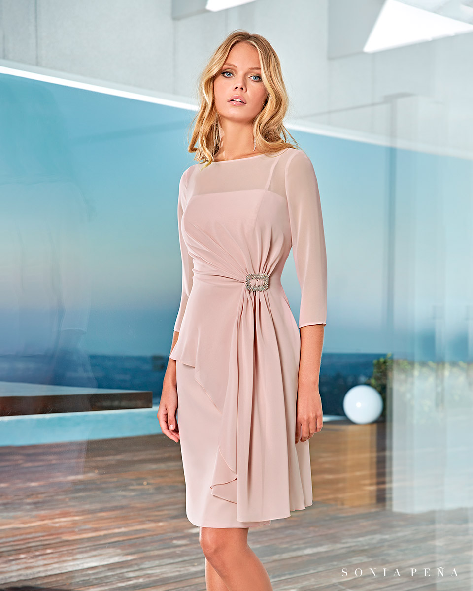 Party dress, Cocktail Dresses, Mother of the bride dresses. Complete Spring-Summer Solar Collection 2021. Sonia Peña - Ref. 1210013A