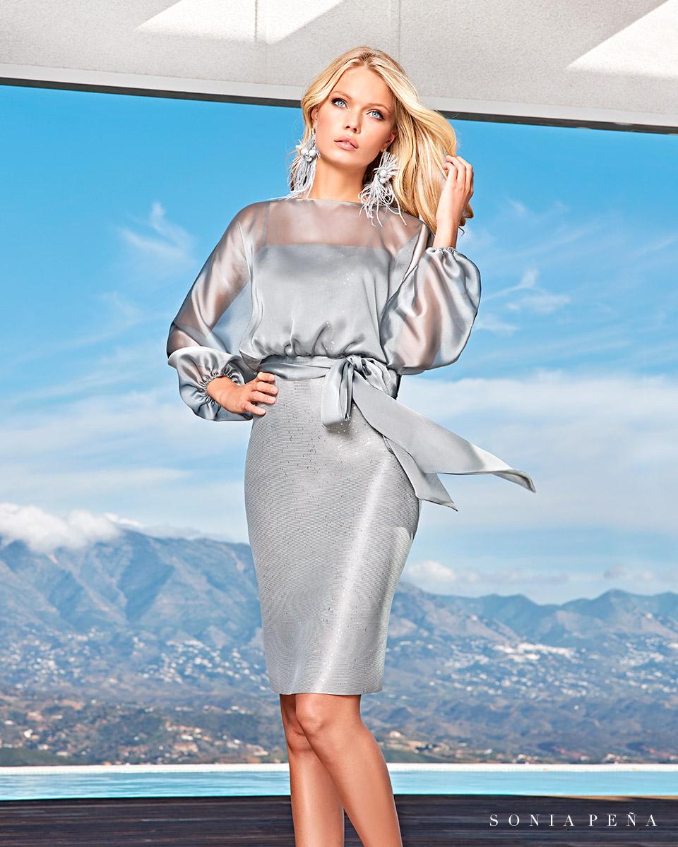 Party Kleider, Mutter der Brautkleiderm Cocktailkleider. Frühling-Sommer-Kollektion 2021. Sonia Peña - Ref. 1210015A