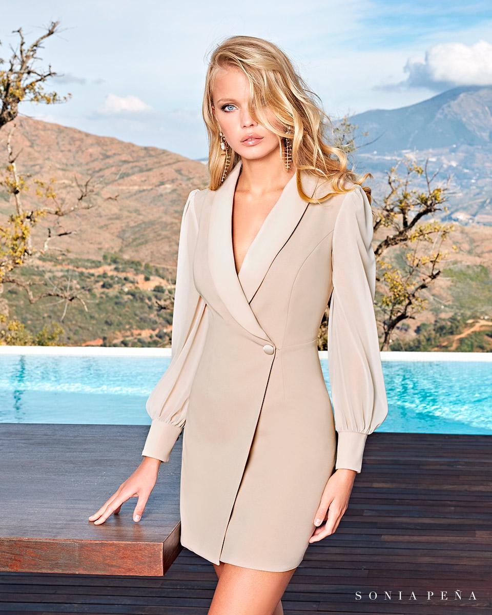 Short dress. Spring-Summer Solar Collection 2021. Sonia Peña - Ref. 1210017A