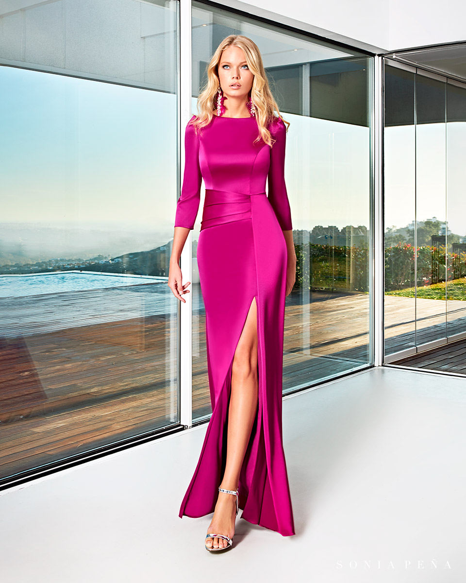 Party dress, Cocktail Dresses, Mother of the bride dresses. Complete Spring-Summer Solar Collection 2021. Sonia Peña - Ref. 1210022