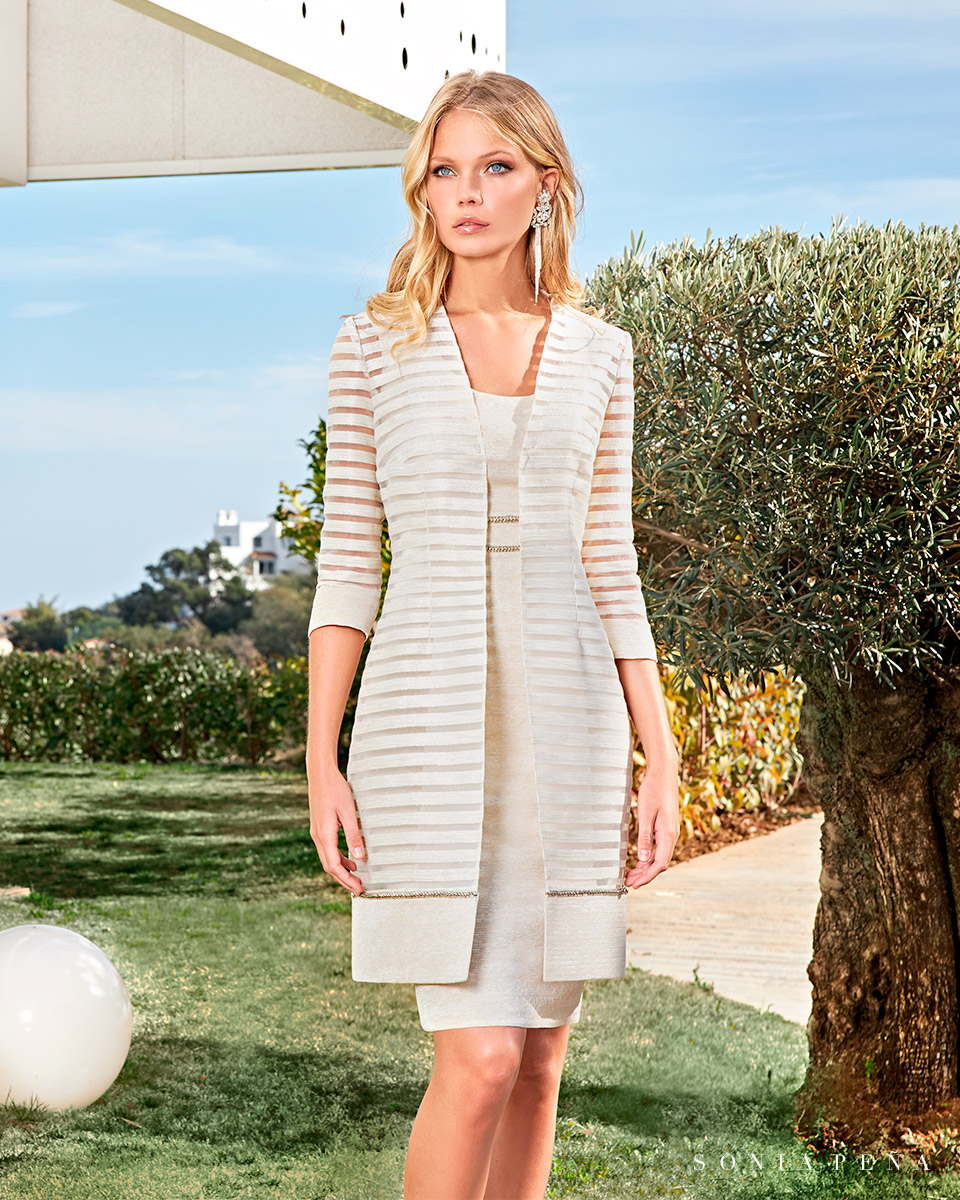 Party dress, Cocktail Dresses, Mother of the bride dresses. Complete Spring-Summer Solar Collection 2021. Sonia Peña - Ref. 1210043