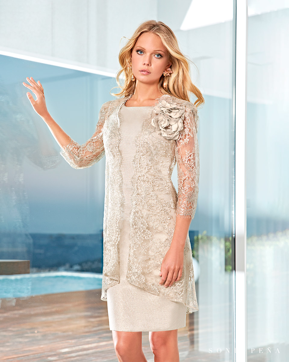 Party dress, Cocktail Dresses, Mother of the bride dresses. Complete Spring-Summer Solar Collection 2021. Sonia Peña - Ref. 1210045