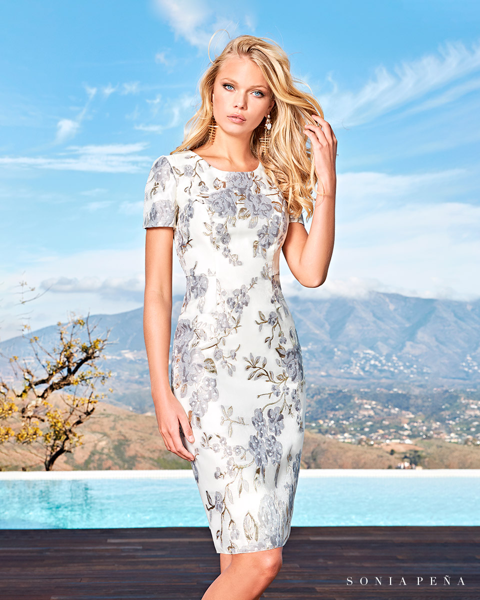 Party dress, Cocktail Dresses, Mother of the bride dresses. Complete Spring-Summer Solar Collection 2021. Sonia Peña - Ref. 1210049A
