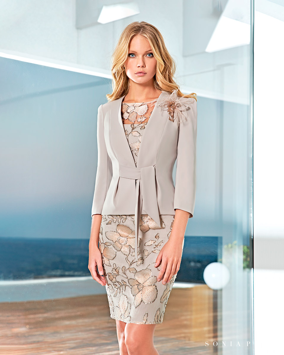Party dress, Cocktail Dresses, Mother of the bride dresses. Complete Spring-Summer Solar Collection 2021. Sonia Peña - Ref. 1210051