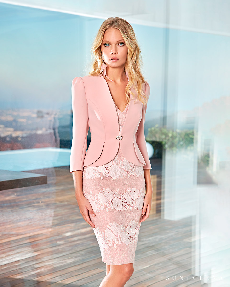 Party dress, Cocktail Dresses, Mother of the bride dresses. Complete Spring-Summer Solar Collection 2021. Sonia Peña - Ref. 1210053