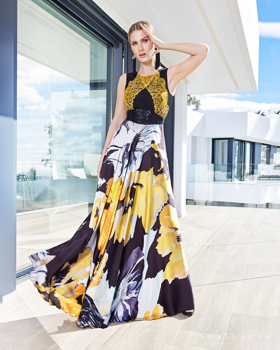 Long dress. Spring-Summer Summer Time Collection 2021. Sonia Peña - Ref. 1210107
