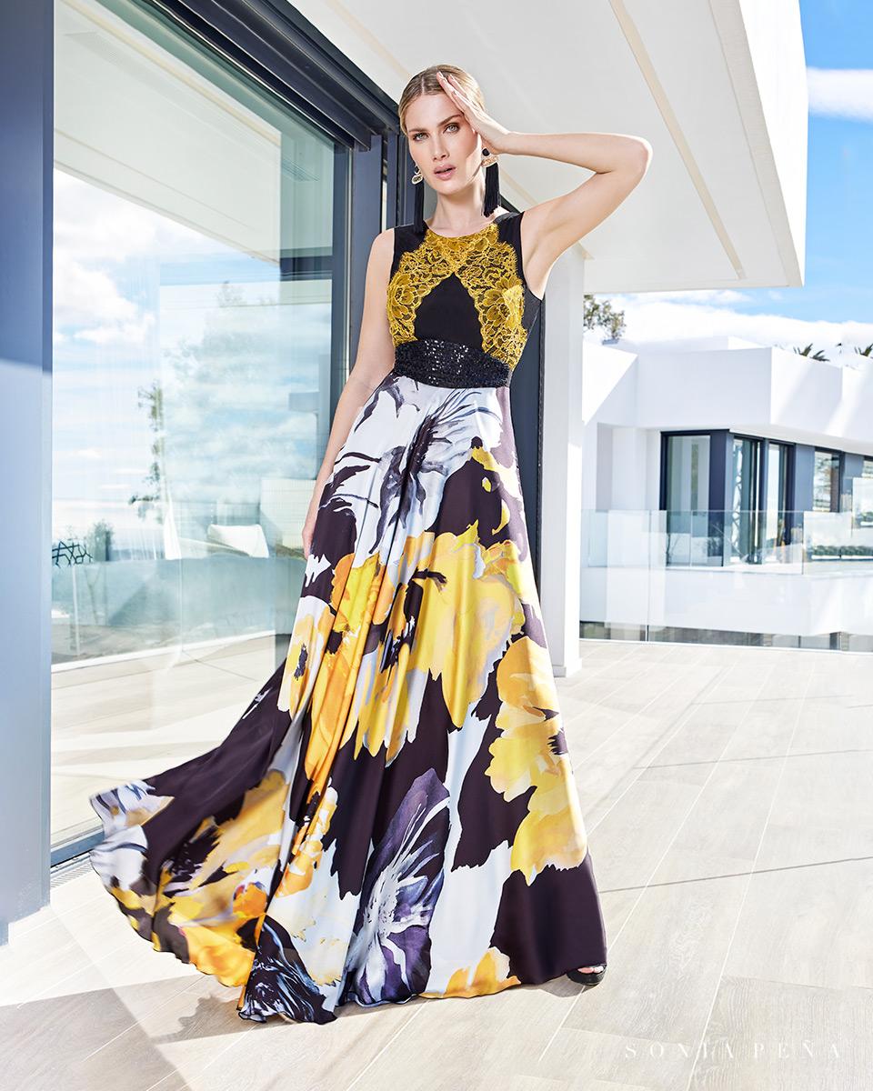Robe longue, 2021 Collection Printemps Eté Summer Time. Sonia Peña - Ref. 1210107