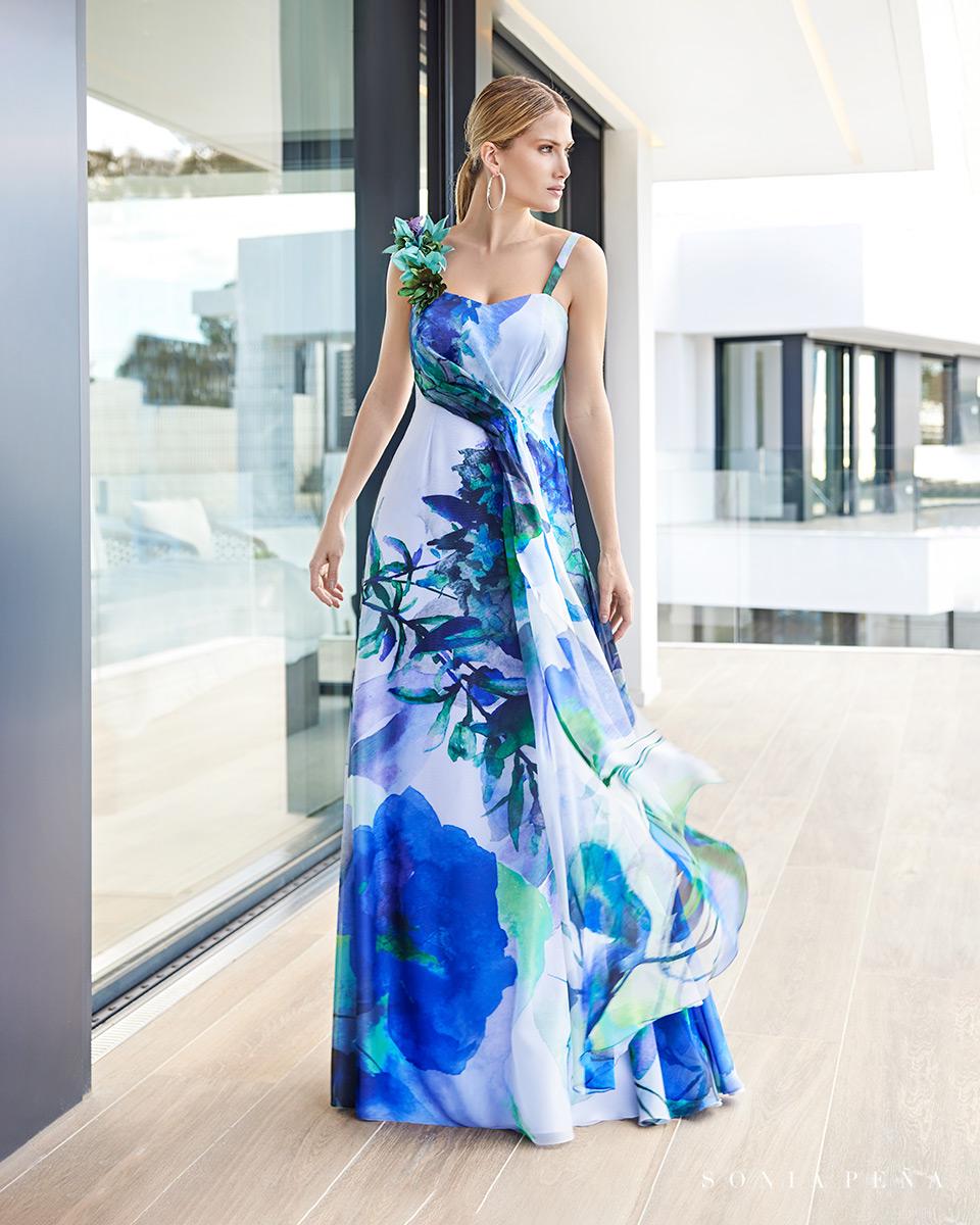 Robe longue, 2021 Collection Printemps Eté Summer Time. Sonia Peña - Ref. 1210108
