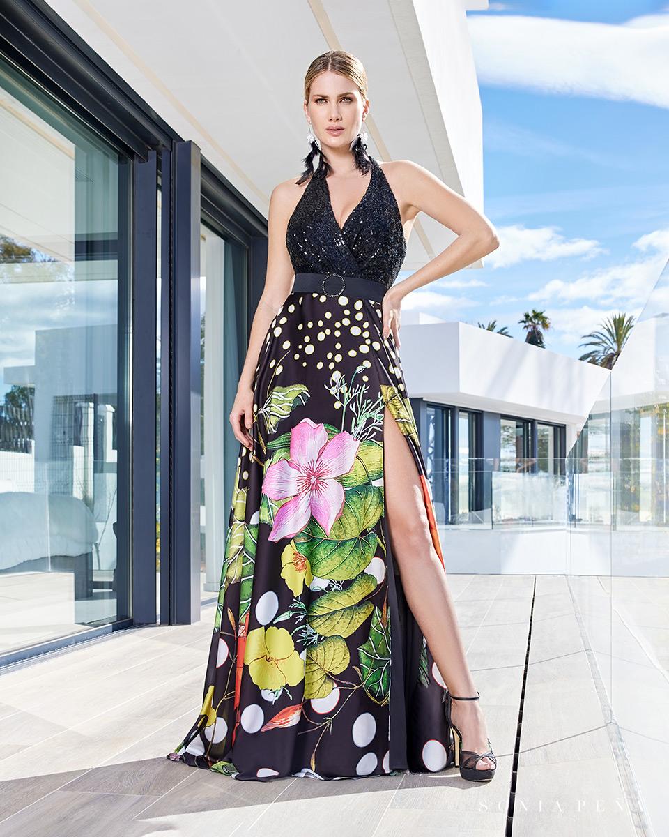 Robe longue, 2021 Collection Printemps Eté Summer Time. Sonia Peña - Ref. 1210109