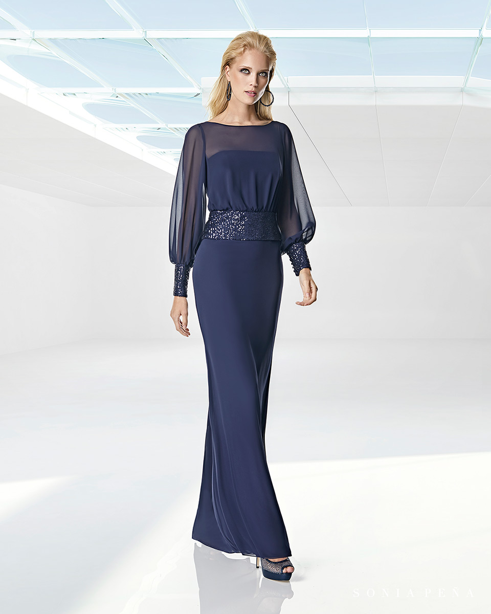 Robe longue, 2020 Collection Printemps Eté Trece Lunas. Sonia Peña - Ref. 1200001