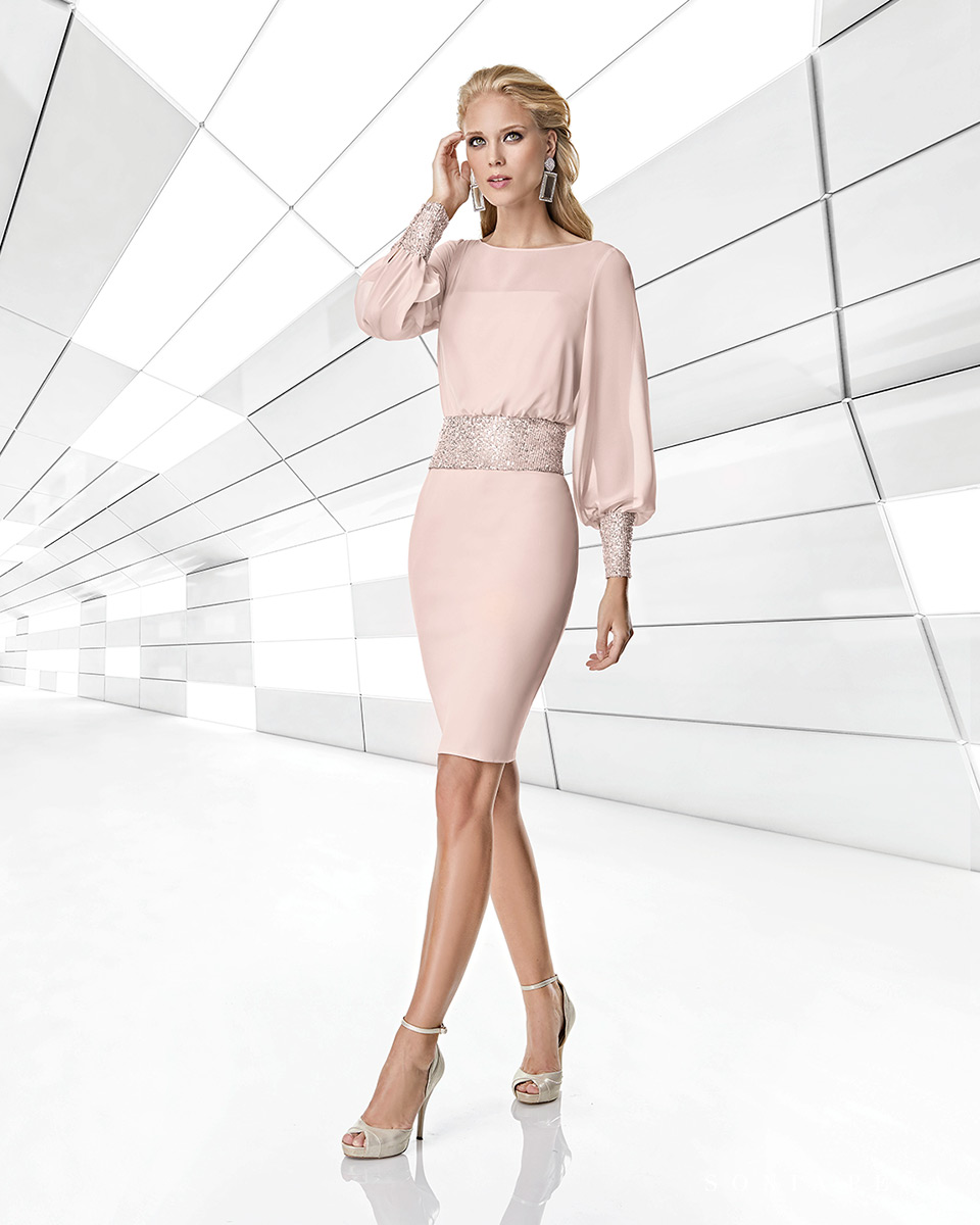 Kurzes Kleid. Frühling-Sommer-Kollektion Trece Lunas 2020. Sonia Peña - Ref. 1200001A