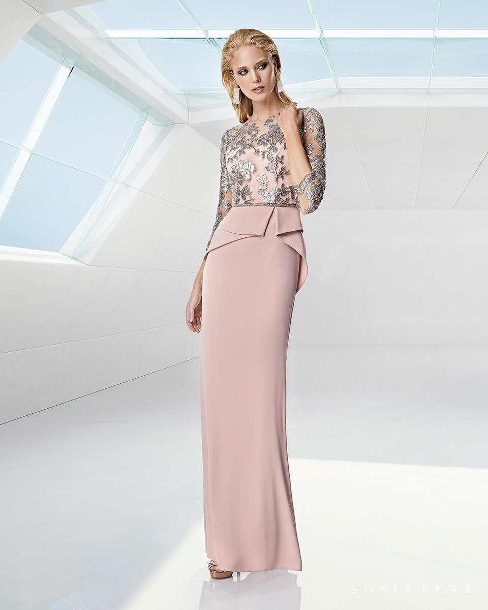 Long dress. Spring-Summer Trece Lunas Collection 2020. Sonia Peña - Ref. 1200002
