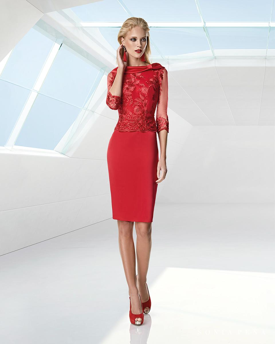 Short dress. Spring-Summer Trece Lunas Collection 2020. Sonia Peña - Ref. 1200004A