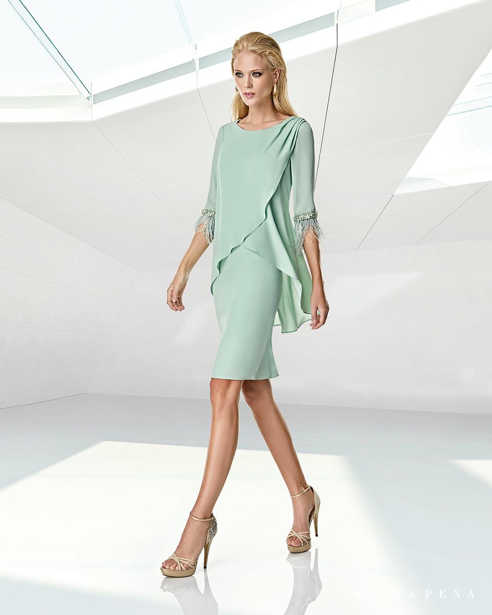 Short dress. Spring-Summer Trece Lunas Collection 2020. Sonia Peña - Ref. 1200007A