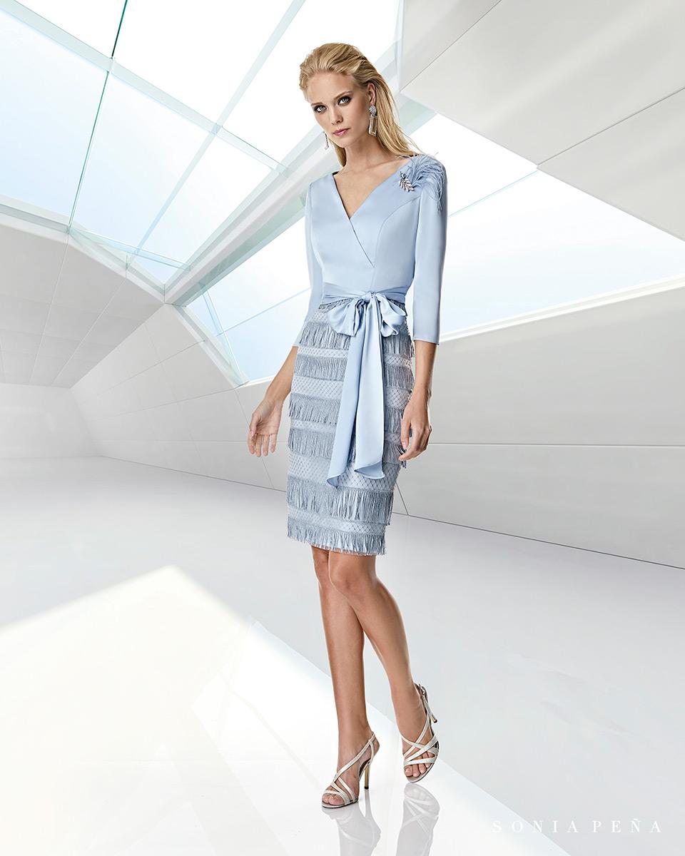 Short dress. Spring-Summer Trece Lunas Collection 2020. Sonia Peña - Ref. 1200010A