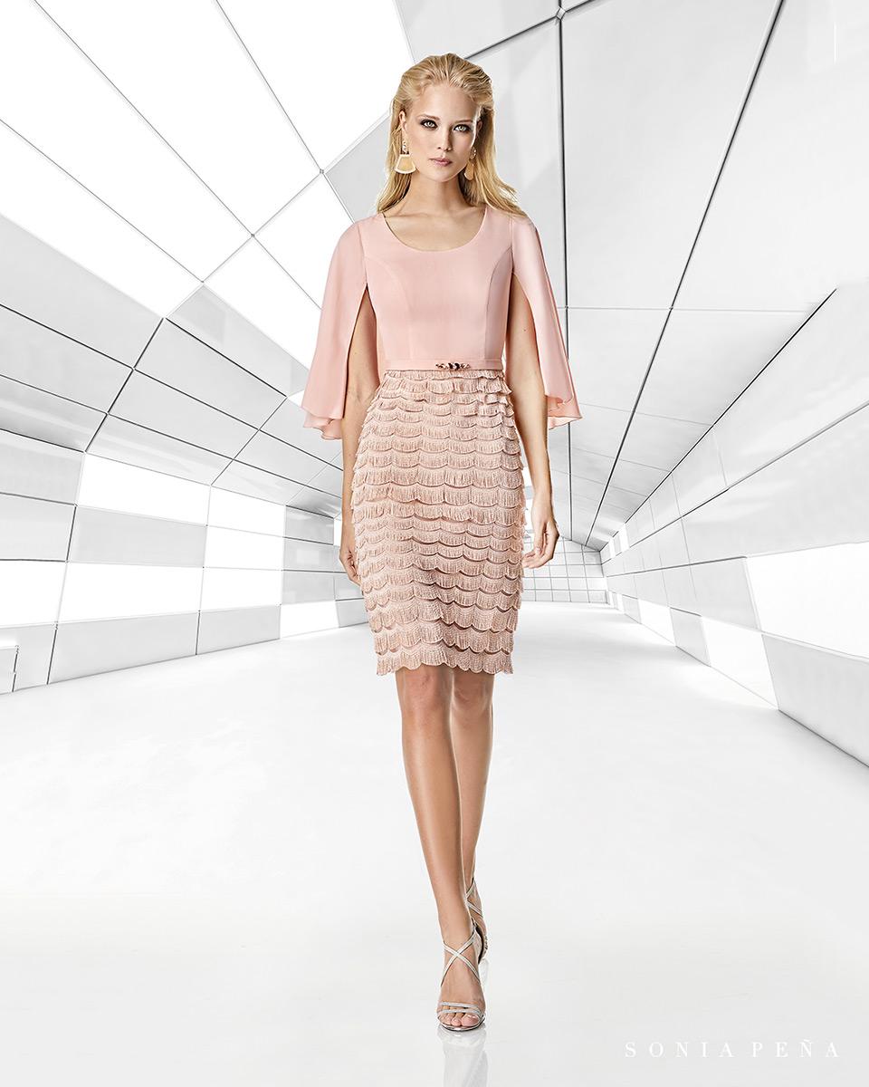 Short dress. Spring-Summer Trece Lunas Collection 2020. Sonia Peña - Ref. 1200011A