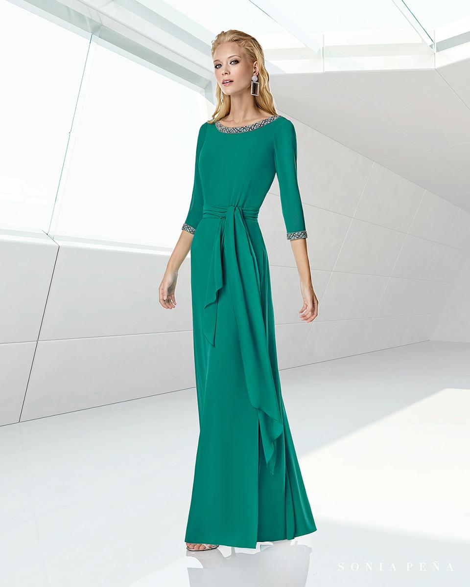 Langes Kleid. Frühling-Sommer-Kollektion Trece Lunas 2020. Sonia Peña - Ref. 1200013