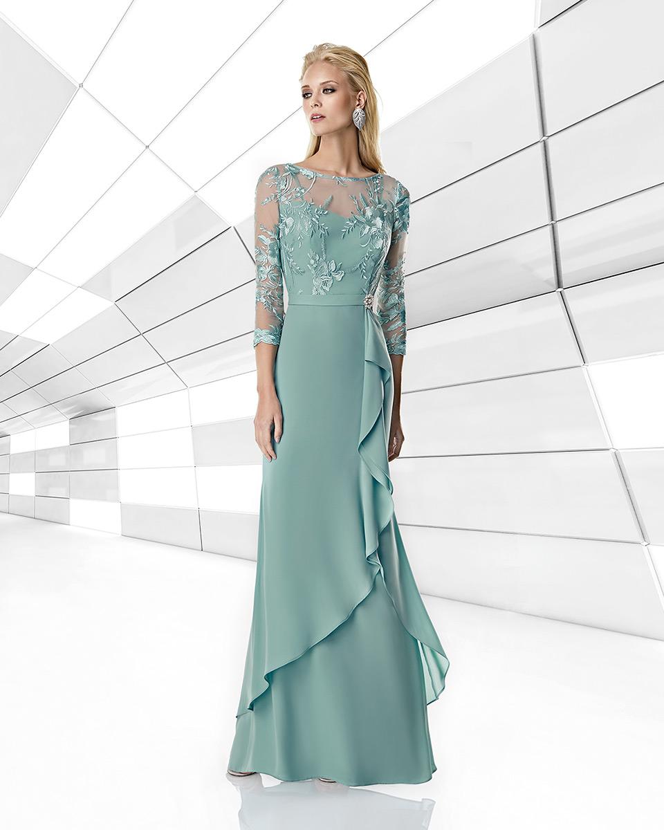 Robe longue, 2020 Collection Printemps Eté Trece Lunas. Sonia Peña - Ref. 1200017