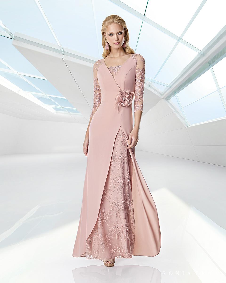 Long dress. Spring-Summer Trece Lunas Collection 2020. Sonia Peña - Ref. 1200019
