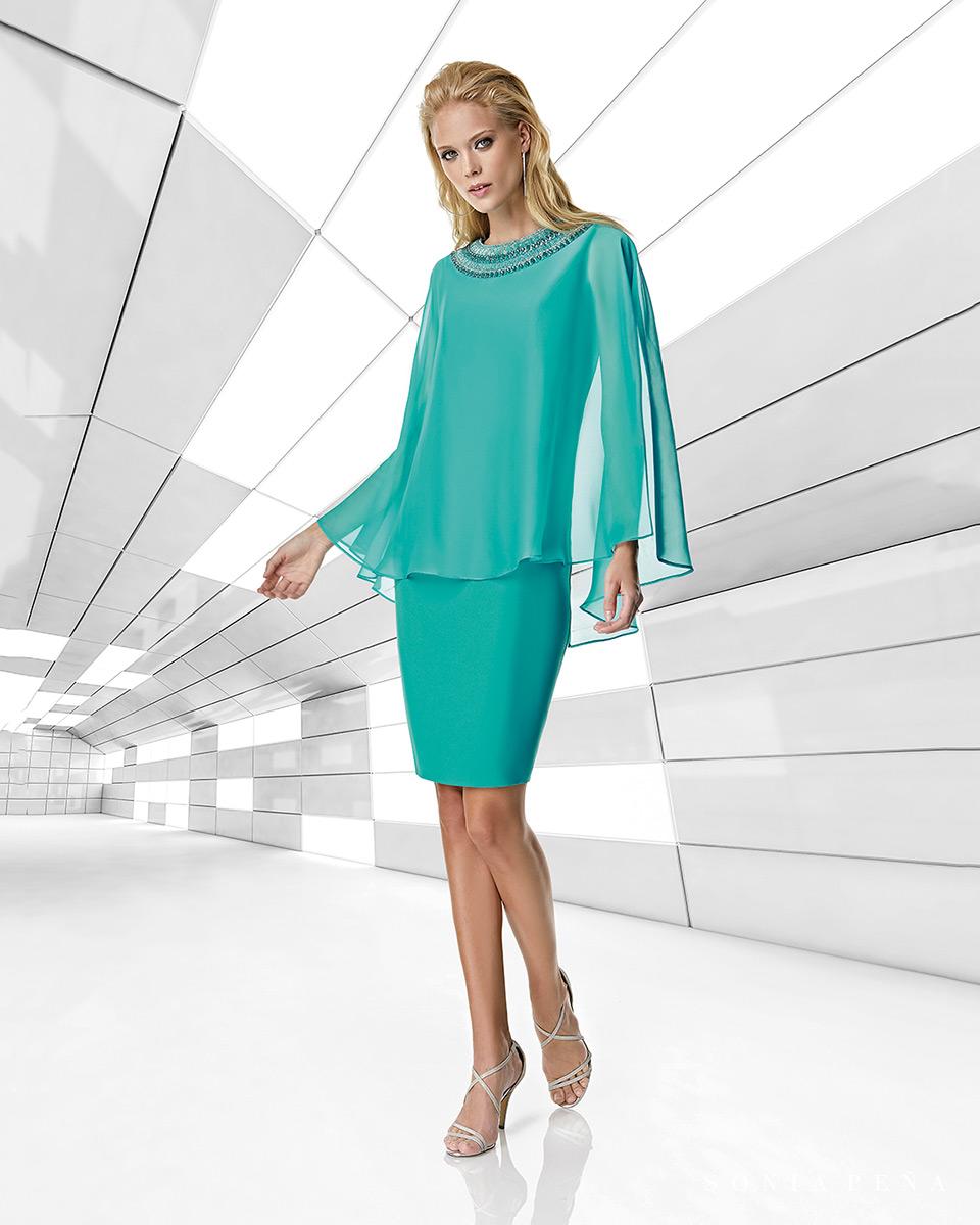 Robe courte, 2020 Collection Printemps Eté Trece Lunas. Sonia Peña - Ref. 1200020A