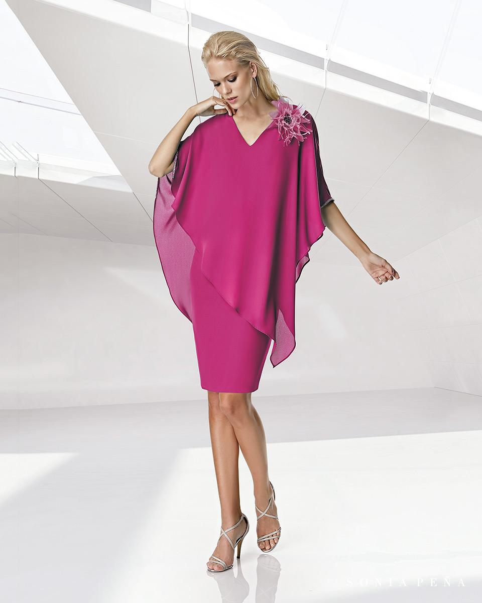 Robe courte, 2020 Collection Printemps Eté Trece Lunas. Sonia Peña - Ref. 1200025A