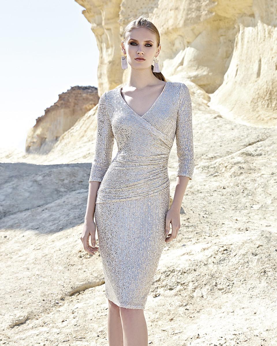 Short dress. Spring-Summer Trece Lunas Collection 2020. Sonia Peña - Ref. 1200026