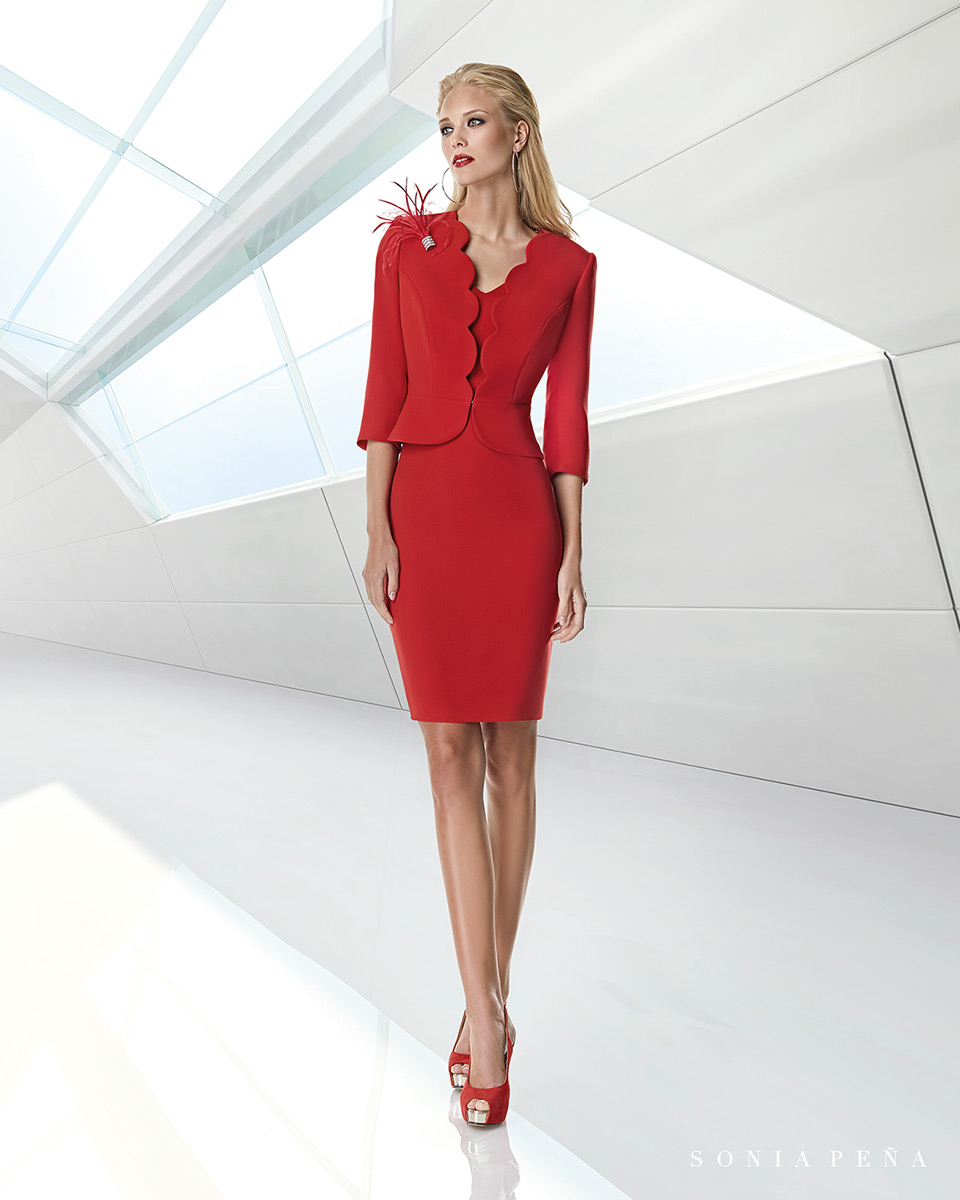Jacket dress. Spring-Summer Trece Lunas Collection 2020. Sonia Peña - Ref. 1200040