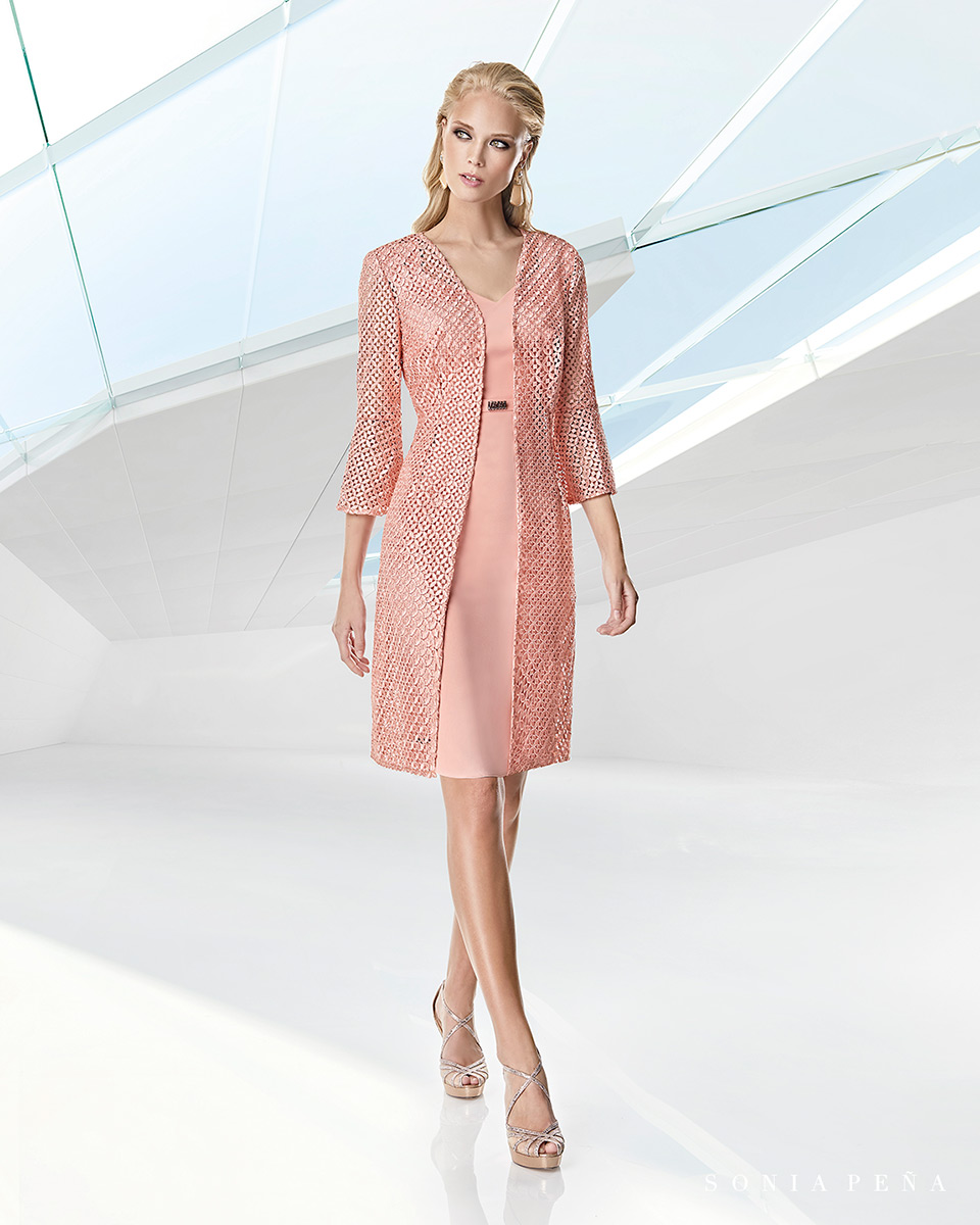 Jacket dress. Spring-Summer Trece Lunas Collection 2020. Sonia Peña - Ref. 1200050