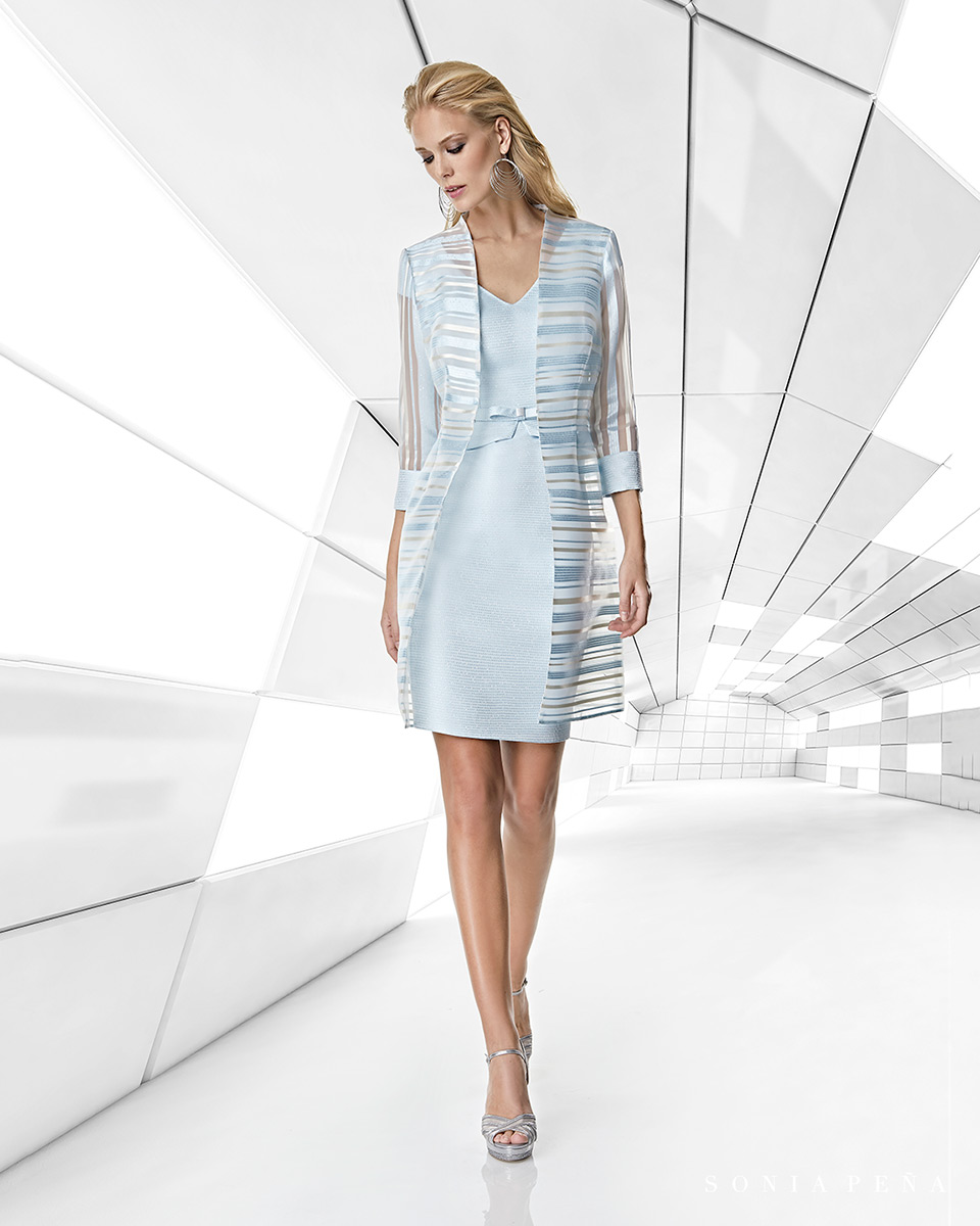Jacket dress. Spring-Summer Trece Lunas Collection 2020. Sonia Peña - Ref. 1200053