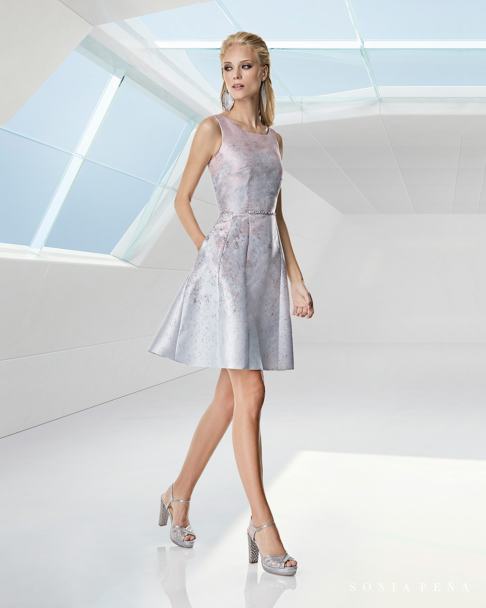 Party dress, Cocktail Dresses, Mother of the bride dresses. Complete Spring-Summer Trece Lunas Collection 2020. Sonia Peña - Ref. 1200058A