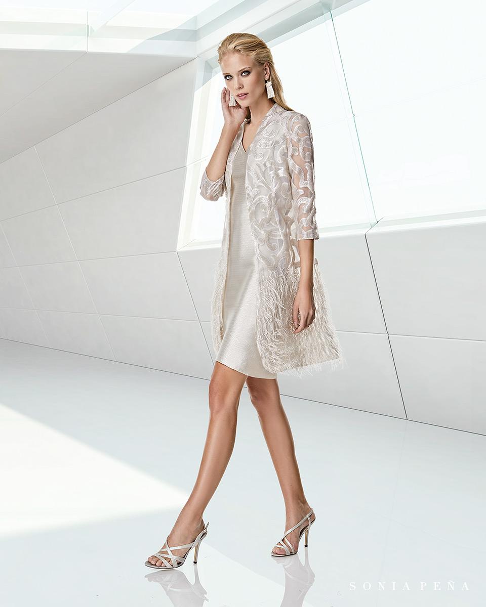 Jacket dress. Spring-Summer Trece Lunas Collection 2020. Sonia Peña - Ref. 1200060