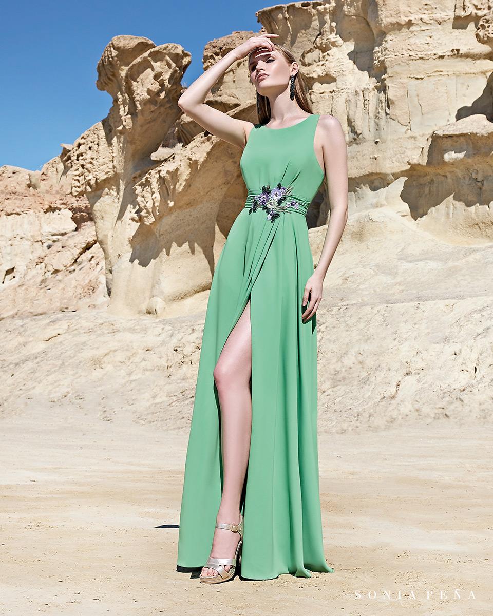 Vestido longo. Colecção Primavera-Verão Trece Lunas 2020. Sonia Peña - Ref. 1200107