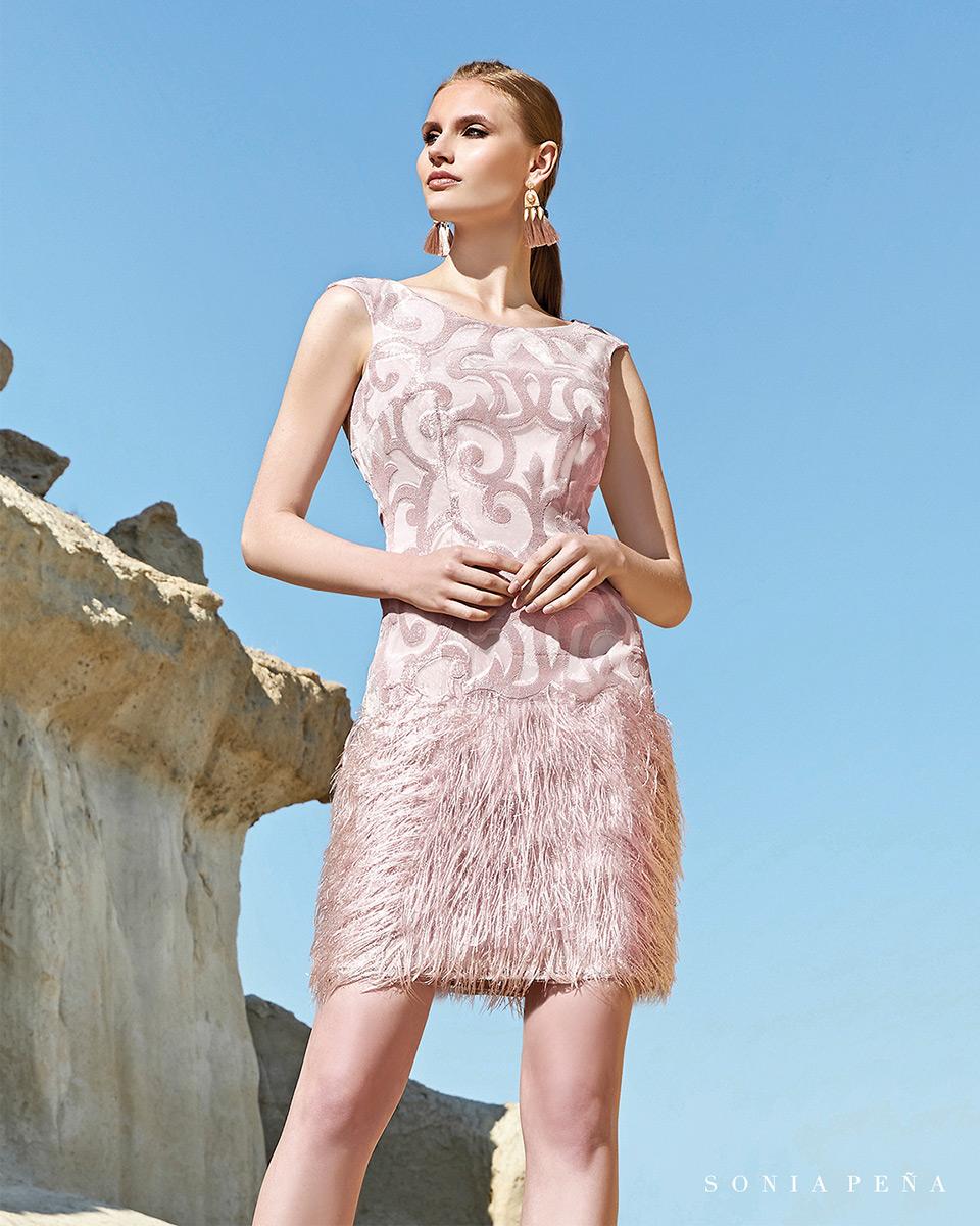 Robe courte, 2020 Collection Printemps Eté Trece Lunas. Sonia Peña - Ref. 1200110