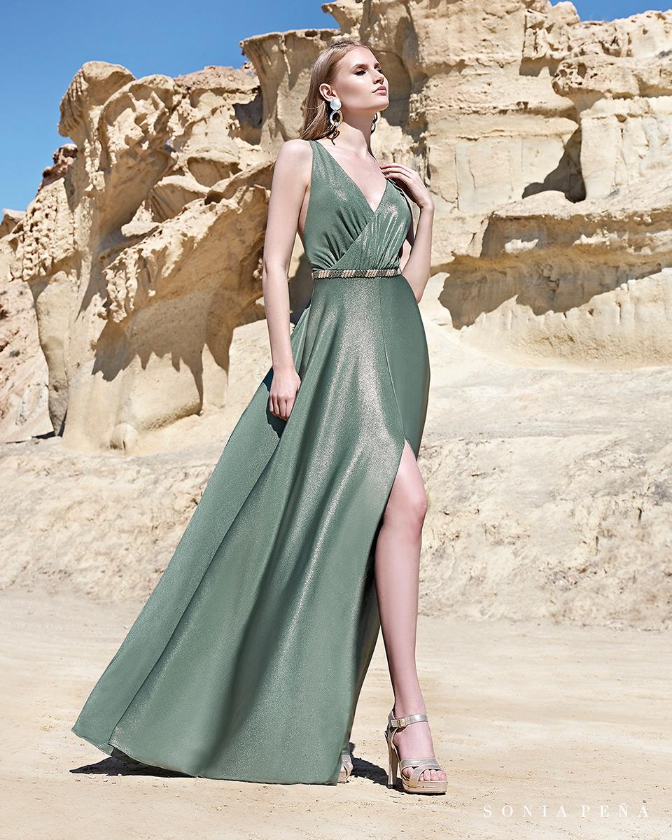 Vestido longo. Colecção Primavera-Verão Trece Lunas 2020. Sonia Peña - Ref. 1200111
