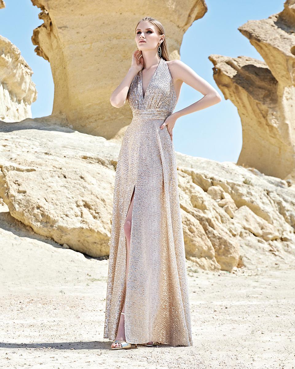 Vestido longo. Colecção Primavera-Verão Trece Lunas 2020. Sonia Peña - Ref. 1200117