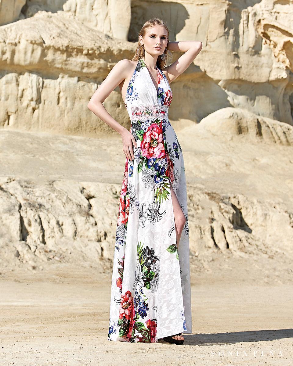 Vestido Largo. Colección Primavera Verano 2020 Trece Lunas. Sonia Peña - Ref. 1200119