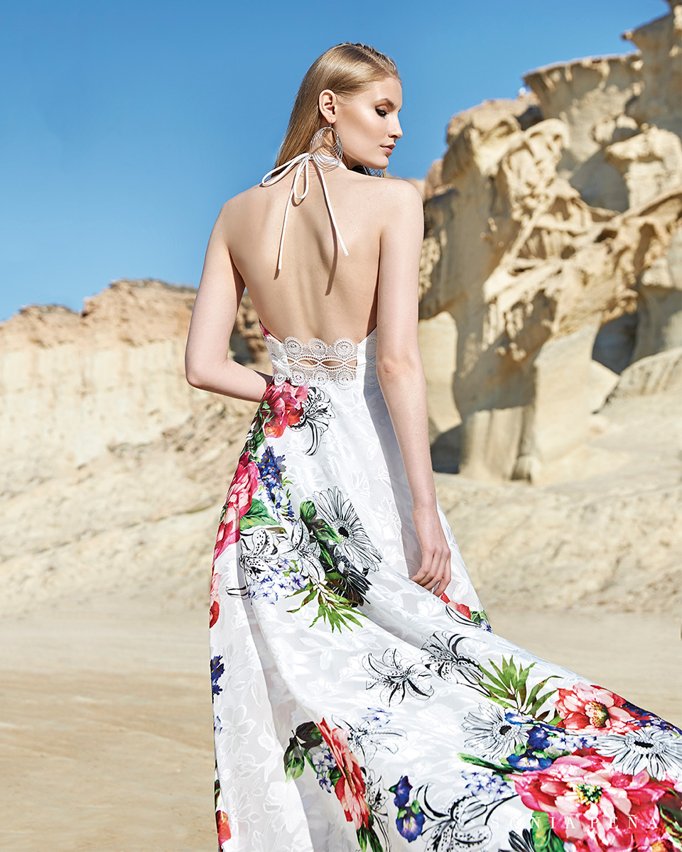 Vestido longo. Colecção Primavera-Verão Trece Lunas 2020. Sonia Peña - Ref. 1200119