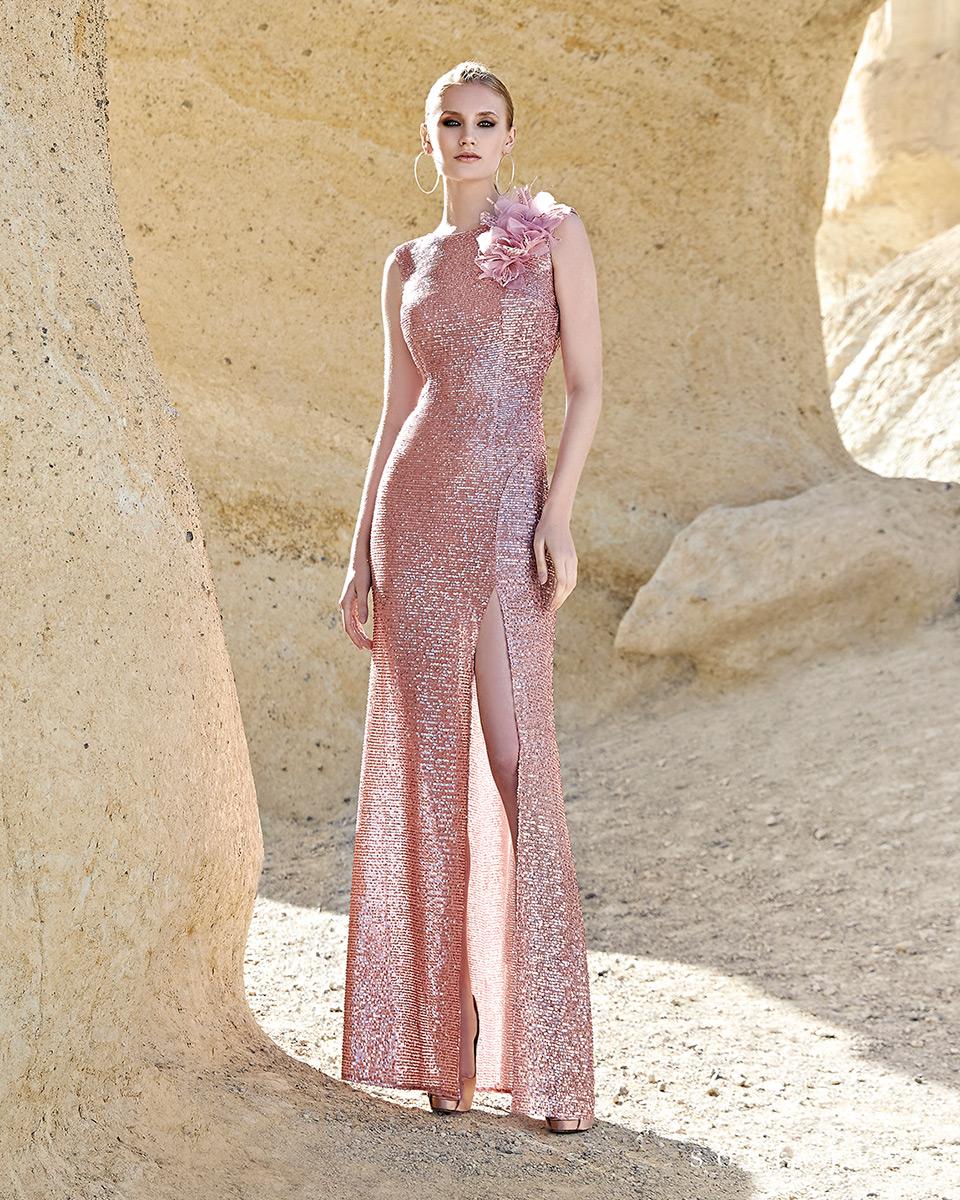 Vestido longo. Colecção Primavera-Verão Trece Lunas 2020. Sonia Peña - Ref. 1200124
