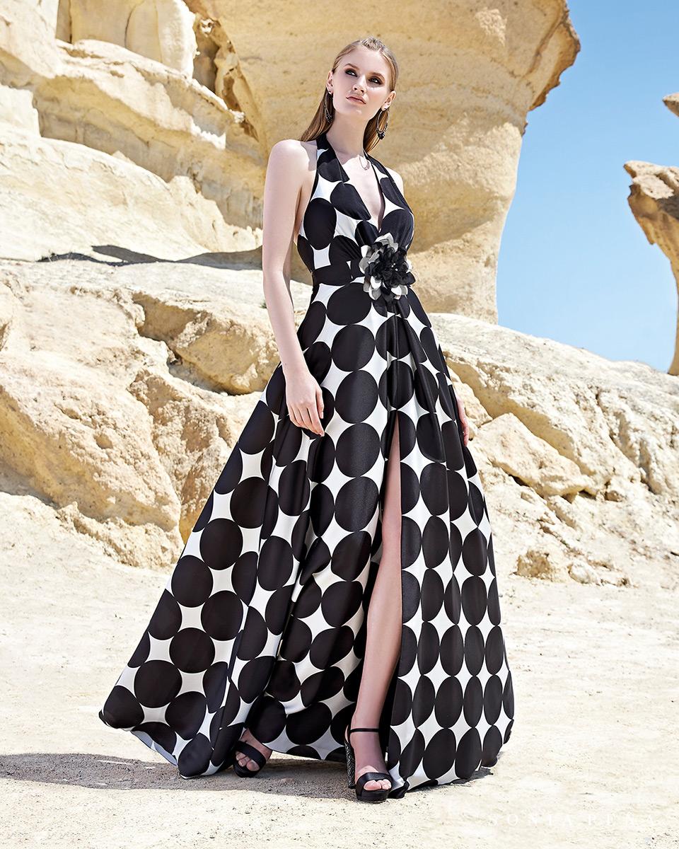 Robe longue, 2020 Collection Printemps Eté Trece Lunas. Sonia Peña - Ref. 1200127