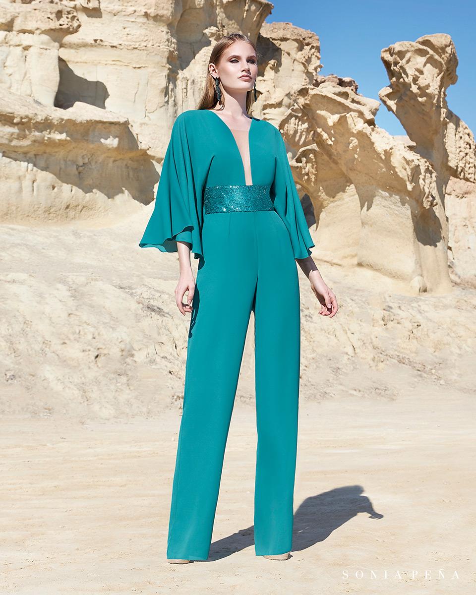 Robes de soirée, robes de Mére de la mariee. Complete 2020 Collection Printemps Eté Trece Lunas. Sonia Peña - Ref. 1200129